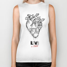Heart Of Hearts: Outline & Stuff Biker Tank