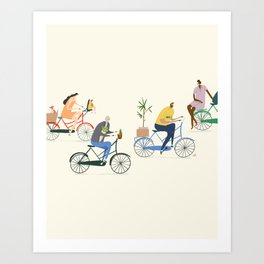 Amsterdam Traffic Art Print