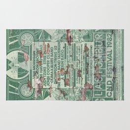 Distressed Glastonbury 1982 Poster Rug