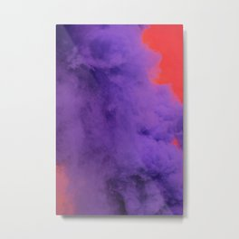 Purple and Pink Smoke Metal Print