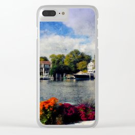 Annapolis waterfront garden Clear iPhone Case