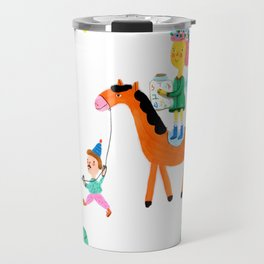 Colorful Cheerful Forest Travel Mug