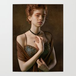 Girl with a Pearl Necklace Poster