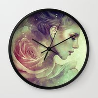 kpop Wall Clocks featuring June by Anna Dittmann