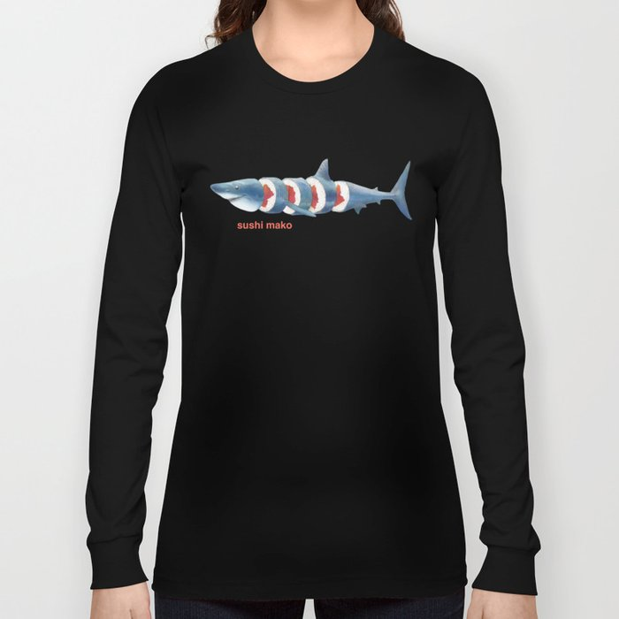 Sushi Mako (color option) Long Sleeve T-shirt
