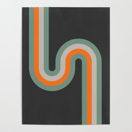 Simply Retro Curve Poster