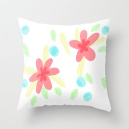 Aliyah Flower Pattern Throw Pillow