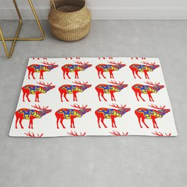Graphic Elk 05 Swedish Dala Male Multiples Rug