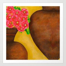 Camellias Art Print