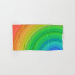 Bright Rainbow   Abstract gradient pattern Hand & Bath Towel