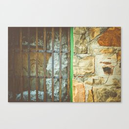 station house, grate Canvas Print