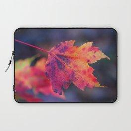 Purple Leaf Laptop Sleeve