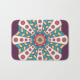 Purple Fun Mosaic Boho Pattern Bath Mat