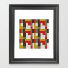 MCM Bitossi Puzzle Framed Art Print