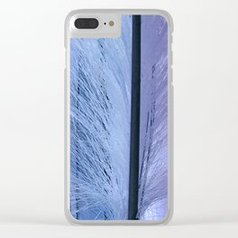 Lilac-esque and Aqua-Blue Feather Art Clear iPhone Case