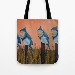 Blue Birds and Barley  Tote Bag
