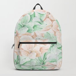 Pastel green coral hand painted watercolor elegant floral Backpack