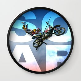 Soar Motorcross Wall Clock