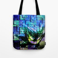 gengar Tote Bags featuring Gengar Blix by Angela Chevelle