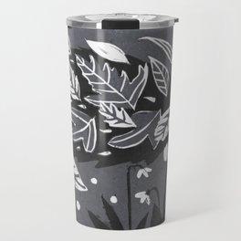 Hedgehog in Autumn Woods - Gray Palette Travel Mug