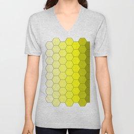 Hexagons (Yellow) Unisex V-Neck
