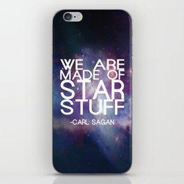 Carl Sagan Quote - Star Stuff iPhone Skin