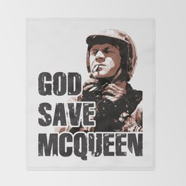 God Save McQueen! Throw Blanket
