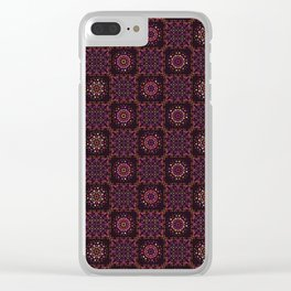 Quilt Patchwork Tile Pattern Clear iPhone Case