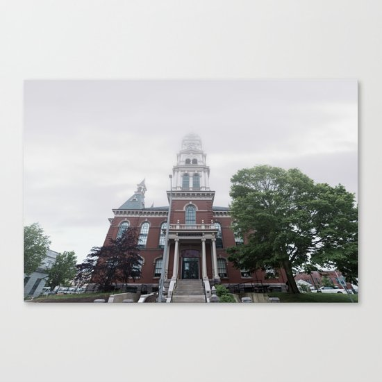Foggy mrning at City Hall Canvas Print