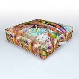 African Elephant Outdoor Floor Cushion