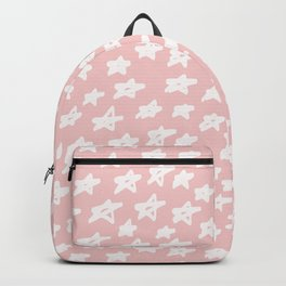 Stars on pink background Backpack