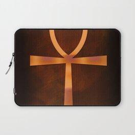 Ankh in Glowing Orange Laptop Sleeve