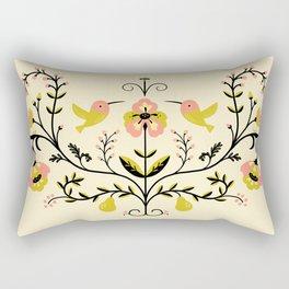 Hummingbirds and Pears Rectangular Pillow