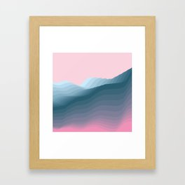 iso mountain Framed Art Print