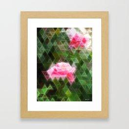 Pink Roses in Anzures 5 Art Triangles 2 Framed Art Print