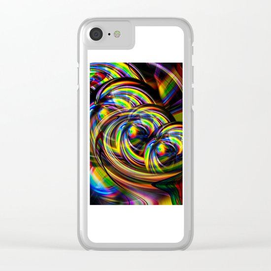 Abstract Perfection 53 Clear iPhone Case