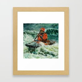Open Water Kayaking Framed Art Print