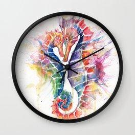 Sanguine Seahorses Wall Clock