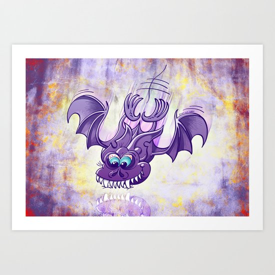 Bat Sinking its Fangs into any Surface Art Print