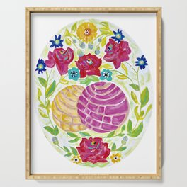 Pan Dulce - Mexican, Flowers, Conchas, Acrylic Painting Serving Tray