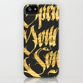 Open your soul iPhone Case