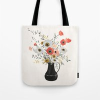 poppies Tote Bags featuring Poppies by Kelli Murray