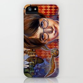 Harry's First Quidditch Match iPhone Case