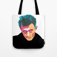 iron giant Tote Bags featuring Giant by Grace Teaney Art