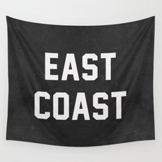 East Coast - black Wall Tapestry