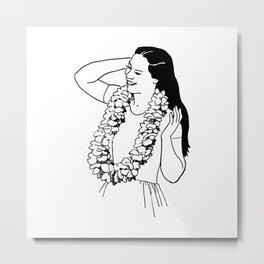 Island Portrait Sketch Metal Print
