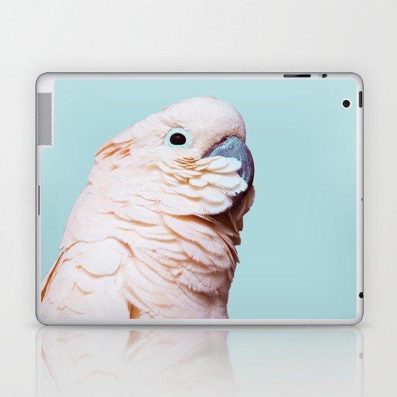 Parrot Photography   Pink Bird    Tropical   Exotic   Turquoise Art   Blush Pink Laptop & iPad Skin