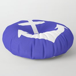 Anchor (White & Navy Blue) Floor Pillow