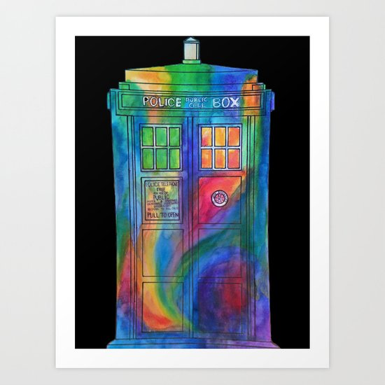 Tie Dye Tardis- Doctor Who Art Print