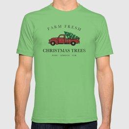 Christmas Tree Farm Vintage Truck T-shirt